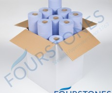 Blue Couch Rolls Unwrapped From Fourstones