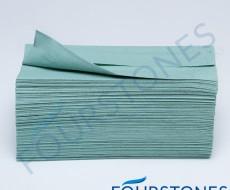 Green C-Fold Hand Towels