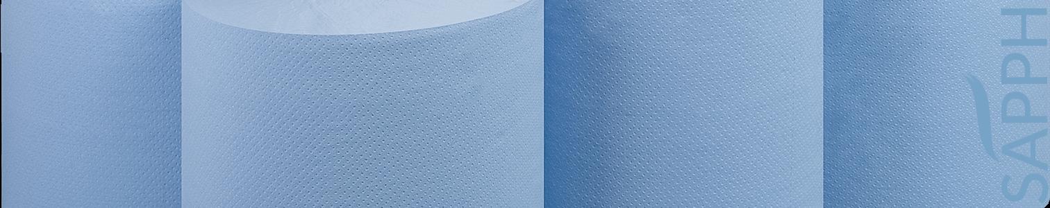 UK Blue Embossed Centrefeed