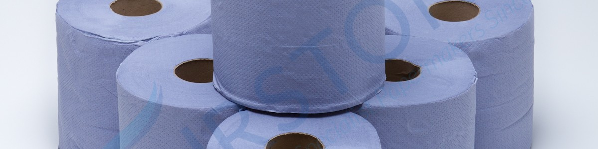 Fourstones Blue Embossed Centrefeed