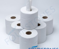 2 Ply White Embossed Centrefeed