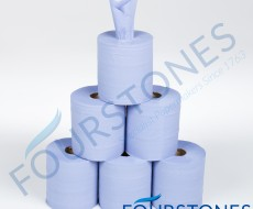 2 Ply Blue Embossed Centrefeed