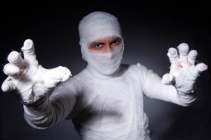 Spooky Paper Costume - Mummy